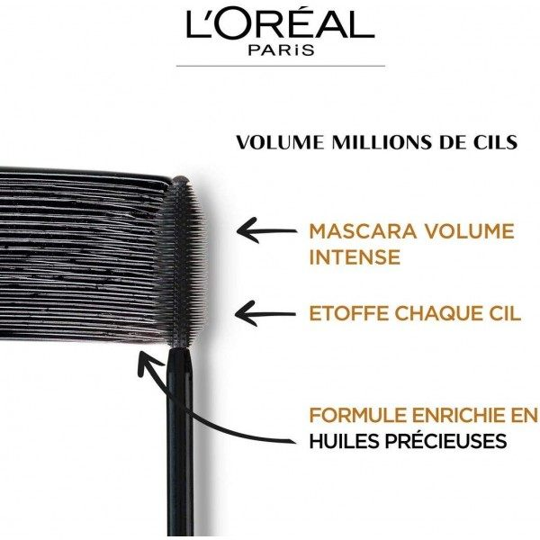 Mascara Volume Million LASHES Extra Black L'oréal Paris L'oréal Paris 8,49 €