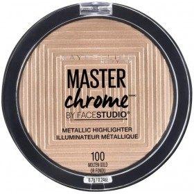100 Molten Gold - Enlumineur Face Studio Master Chrome Métallique de Gemey Maybelline Maybelline 5,99€