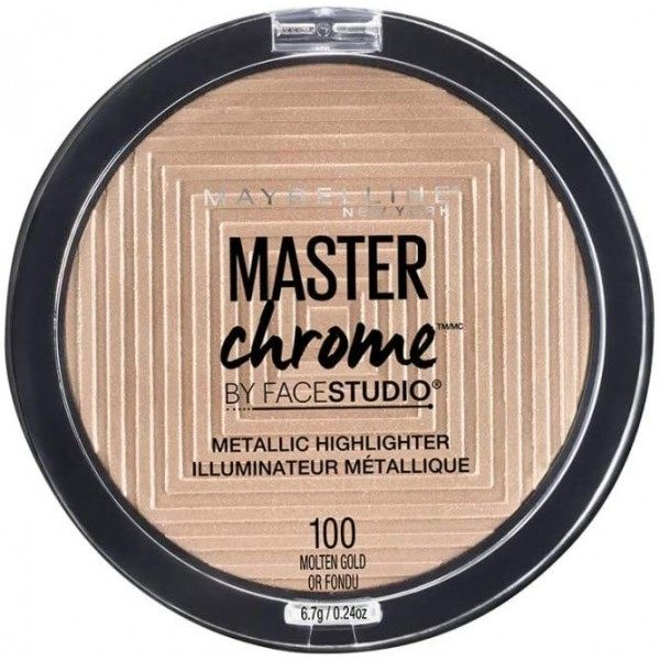 100 Molten Gold - Illuminator Face Studio Master Chrome Metal Gemey Maybelline Maybelline 5,99 €