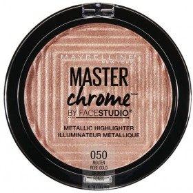 050 Molten Rose Gold - Enlumineur Face Studio Master Chrome Métallique de Gemey Maybelline Maybelline 5,99€