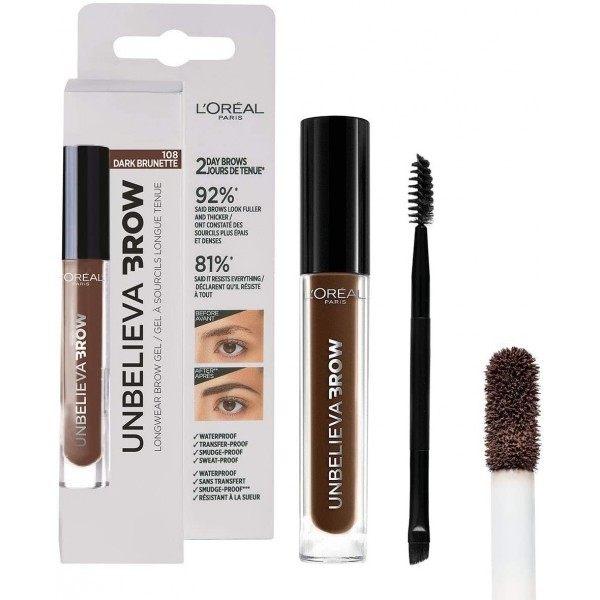 108 Dark Brunette - Unbelievabrow Gel à Sourcils Longue Tenue de L'Oréal Paris L'Oréal 6,99€