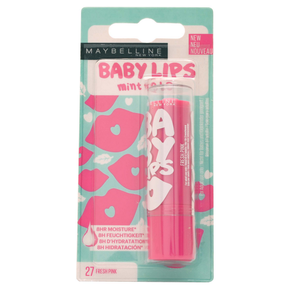 27 Fresh pink - Baume à lèvres Hydratant Baby Lips de Gemey Maybelline Maybelline 1,99€