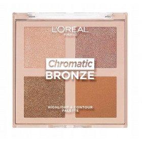 Chromatisch brons - L'Oréal Paris L'Oréal Highlighter & Contour Face Palette 5,99 €