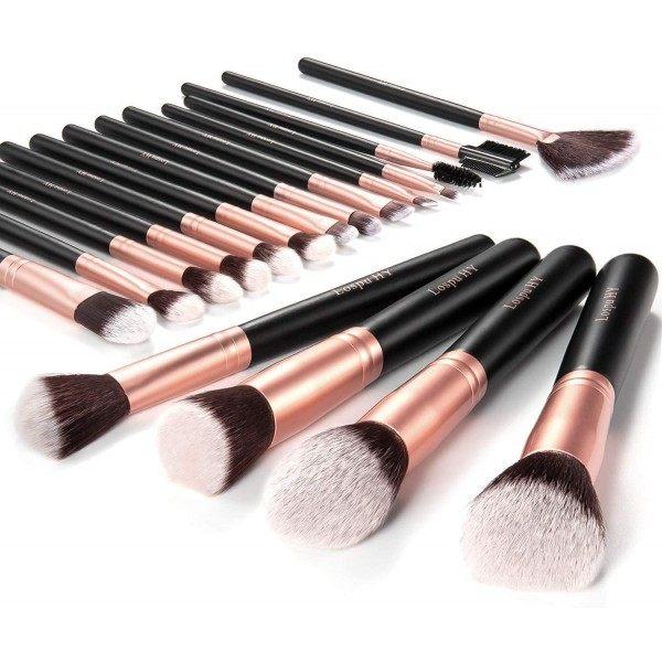 Kit de 18 Pinceaux de maquillage Je Sens le Bonheur 14,99€