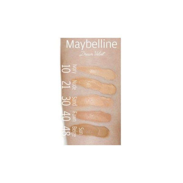 48 Beige Ensoleillé - Fond de teint MAT DREAM VELOURS Gemey Maybelline Maybelline 3,99€