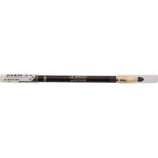202 Mystic Grey ( gris ) - Crayon Eyeliner + Estompeur Le Smoky by Superliner L'Oréal Paris L'Oréal 2,99€