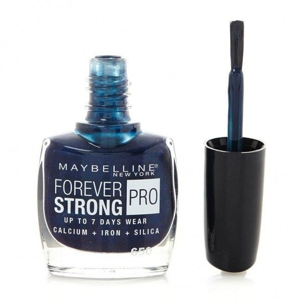 650 Midnight Blue - Nail Varnish Strong & Pro Gemey Maybelline
