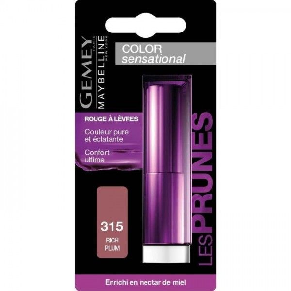 315 Rich Plum - Rouge à lèvre Gemey Maybelline Color Sensational Gemey Maybelline 4,49 €