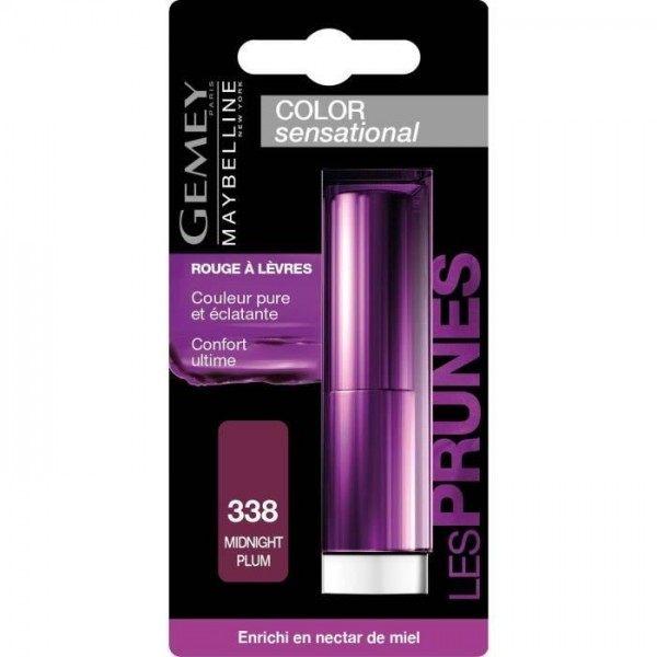 338 Midnight Plum - Red lip Gemey Maybelline Color Sensational Gemey Maybelline 10,90 €