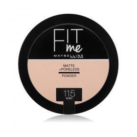 115 Ivory - Poudre Compacte FIT ME ! Matte + Poreless de Maybelline New york Gemey Maybelline 12,99€