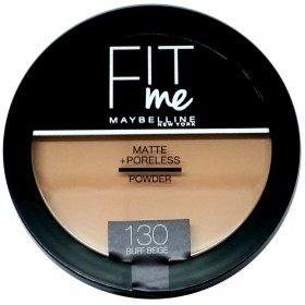 130 Buff Beige - Poudre Compacte FIT ME ! Matte + Poreless de Maybelline New york Gemey Maybelline 12,99€