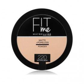220 Natural Beige - Poudre Compacte FIT ME ! Matte + Poreless de Maybelline New york Gemey Maybelline 12,99€