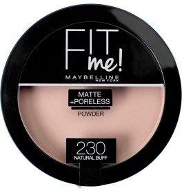 230 Natural Buff - Poudre Compacte FIT ME ! Matte + Poreless de Maybelline New york Gemey Maybelline 12,99€