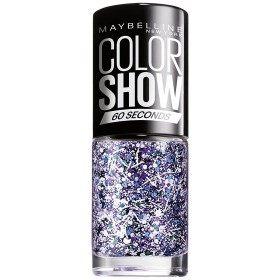 02 Blanco de la Salpicadura de la CAPA SUPERIOR - esmalte de Uñas Colorshow de 60 Segundos de Gemey-Maybelline Gemey Maybelline