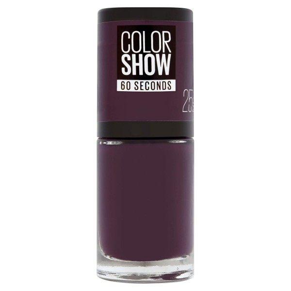 25 Plum it Up - Vernis à Ongles Colorshow 60 Seconds de Gemey-Maybelline Maybelline 2,99€