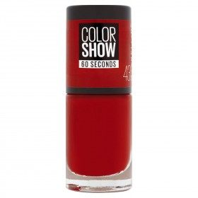 43 Red Apple - Vernis à Ongles Colorshow 60 Seconds de Gemey-Maybelline Gemey Maybelline 4,99 €