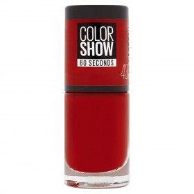 43 Vermello-Mazá - Prego Colorshow 60 Segundos de Gemey-Maybelline Gemey Maybelline 4,99 €