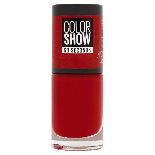 43 Red Apple - Vernis à Ongles Colorshow 60 Seconds de Gemey-Maybelline Maybelline 2,99€