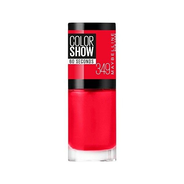 349 Power Red - Vernis à Ongles Colorshow 60 Seconds de Gemey-Maybelline Maybelline 1,99 €