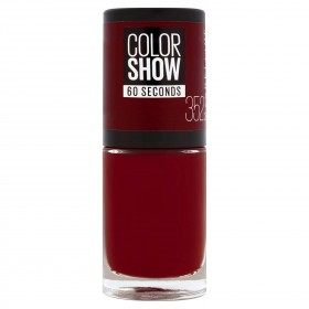 352 Downtown Red - Vernis à Ongles Colorshow 60 Seconds de Gemey-Maybelline Gemey Maybelline 4,99 €