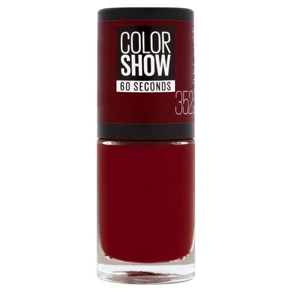 352 Downtown Red - Vernis à Ongles Colorshow 60 Seconds de Gemey-Maybelline Maybelline 1,99 €