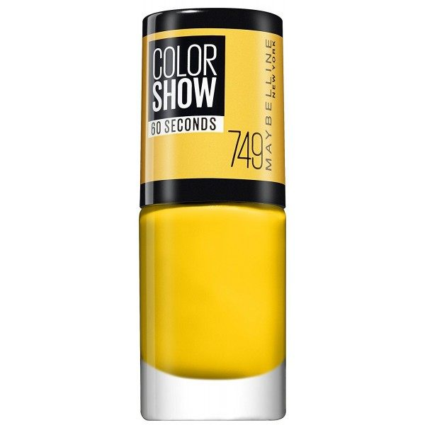 749 Electric Yellow - Vernis à Ongles Colorshow 60 Seconds de Gemey-Maybelline Maybelline 2,99€