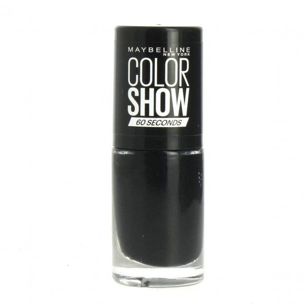 677 Blackout - Vernis à Ongles NOIR Colorshow 60 Seconds de Gemey-Maybelline Maybelline 1,99€