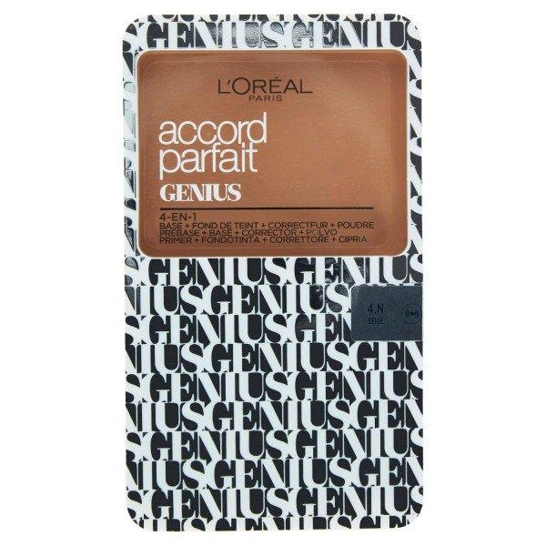 4N Beige - Accord Parfait Genius Compact 4 en 1 FPS 30 de L'Oréal Paris L'Oréal 4,99€