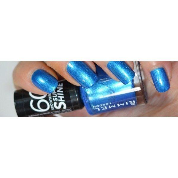 815 Azure - Nail Polish 60 Seconds Super shine Held 10 Days R...