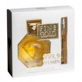Coffret Fine Gold 999.9 Women - Parfum Générique Femme Eau de Parfum 100ml + Flacon de Voyage 15ml Real Time 11,99€