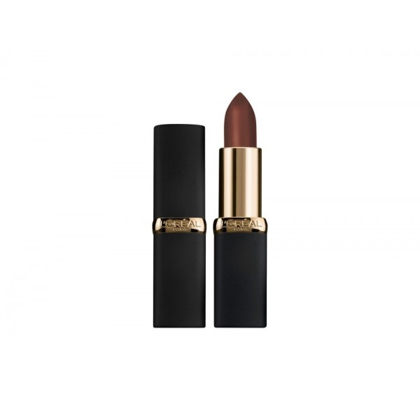 B51 Zwarte Kast Rode Lip Kleur Rijke Mat Collectie Donker Leder L Oréal