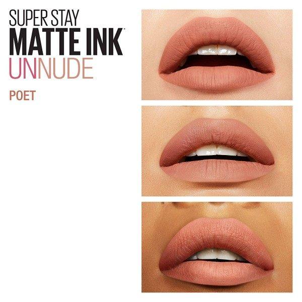 60 Poet - Rouge à lèvre Super Stay MATTE INK de Maybelline New York Gemey Maybelline 5,99€