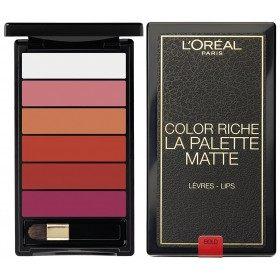 01 Negra MATE Paleta Batom Cor MATE Riche de L 'oréal París L' oréal París, 18,50 €