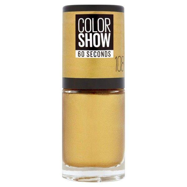 108 de Arena Dorada de Uñas Colorshow de 60 Segundos de Gemey-Maybelline Gemey Maybelline 4,99 €