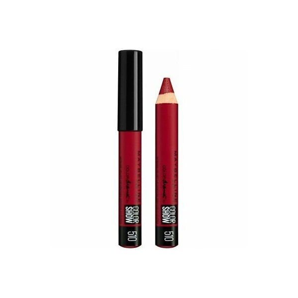 510 Red Essential - Rouge à lèvres CRAYON Velours MAT Colordrama by Colorshow de Gemey Maybelline Maybelline 2,99 €