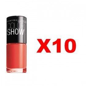 Lot of 10 : 110 Urban Coral - Nail Polish Maybelline Gemey Maybelline 11,99 €