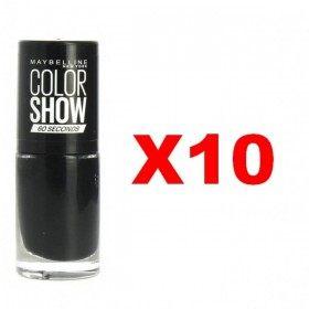 Lot de 10 : 677 Blackout - Vernis à Ongles Maybelline Gemey Maybelline 12,99€