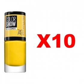 Lot of 10 : 749 Electric Yellow - Nail Polish Maybelline Gemey Maybelline 10,99 €