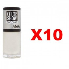Lot of 10 : TOP COAT MATTE Nail Polish Maybelline Gemey Maybelline for £ 19.99