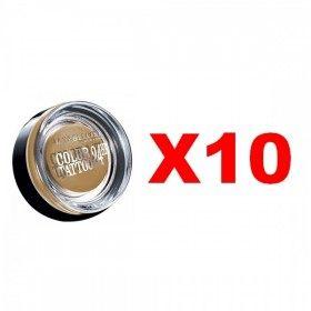Lot de 10 : 05 Eternal Gold - Ombre à paupières color TATTOO 24H Maybelline Gemey Maybelline 19,99€