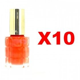 Lot of 10 : 442 Coral Trianon - Nail Varnish Oil, L'oréal Paris, L'oréal Paris 24,99 €