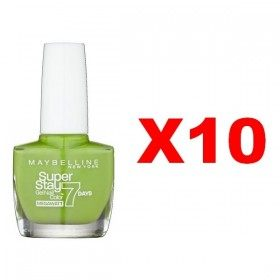 Lot of 10 : 660 Lime Me Up - Nail Polish Superstay 7 Days Maybelline Gemey Maybelline 35,99 €