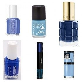 Lot of 6 nail Polish-Blue for £ 19.99