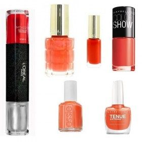 Lot of 6 nail Polish Orange us $ 14.99