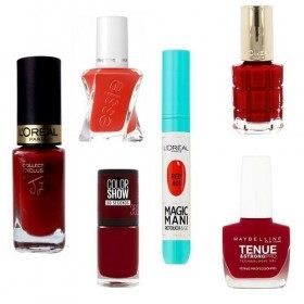 Lot de 6 Vernis à ongles Rouge  17,99 €