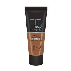 352 Cocoa - foundation FIT ME MATTE & PORELESS from Maybelline Gemey Maybelline 5,99 €