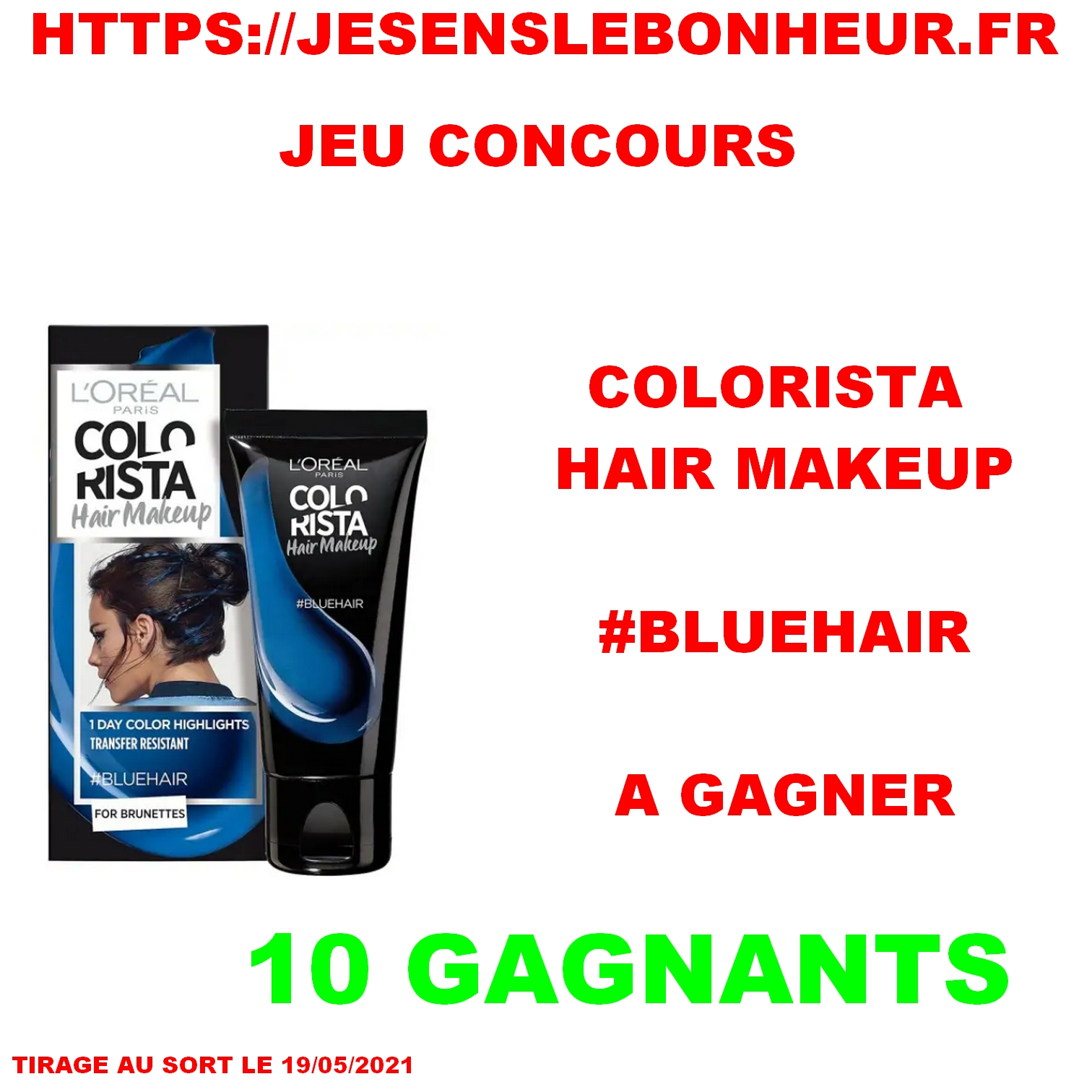 1 COLORATION HAIR MAKEUP #BLUEHAIR COLORISTA DE L'OREAL PARIS