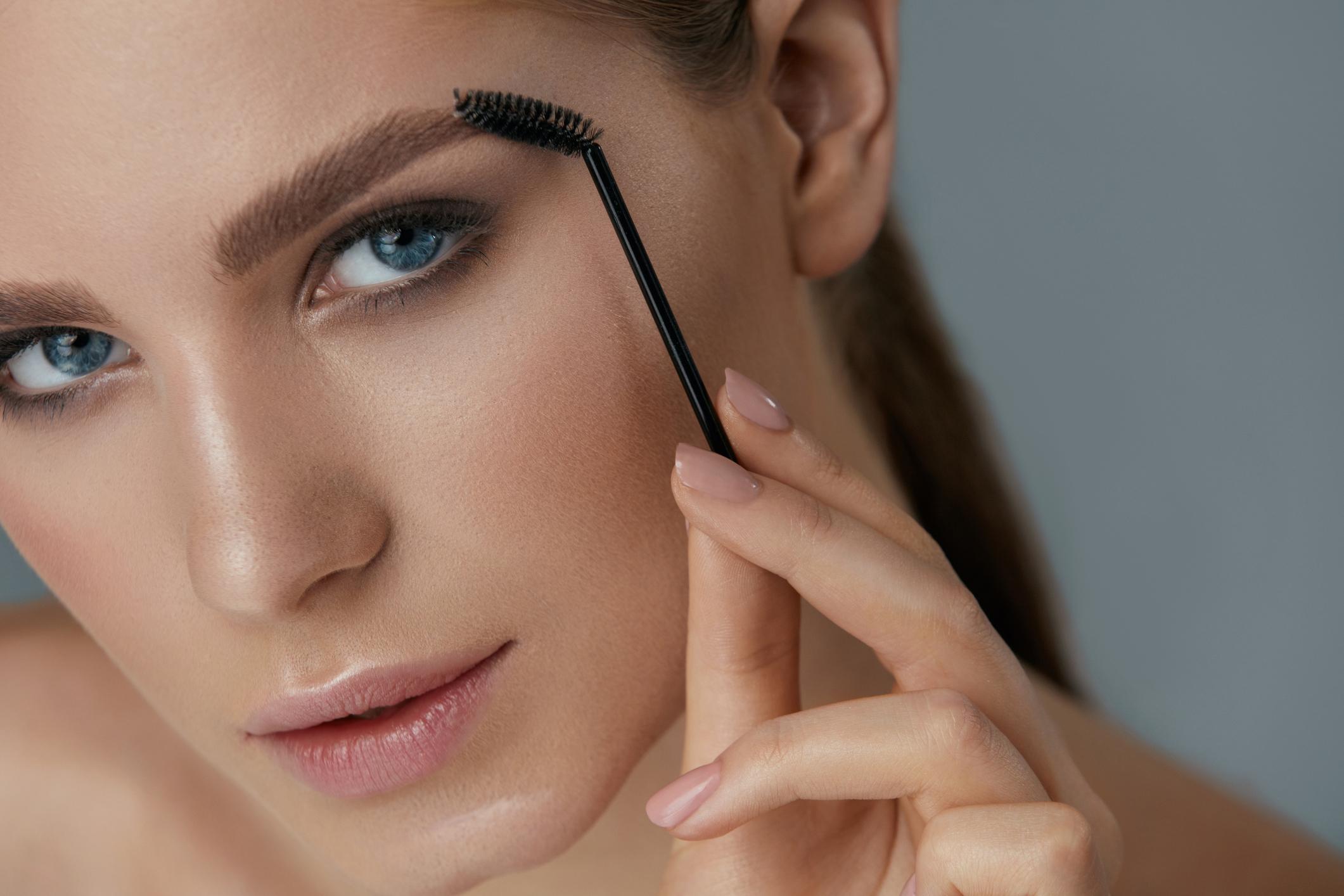 eyebrow makeup woman